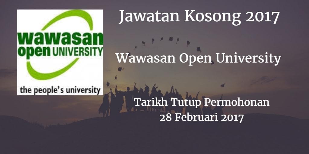 Jawatan Kosong Wawasan Open University 28 Februari 2017