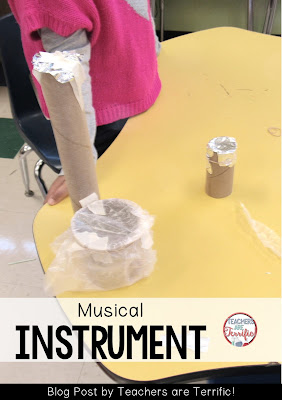 Read a book that features music and build a musical instrument! Check this blog post for details about the books and materials!