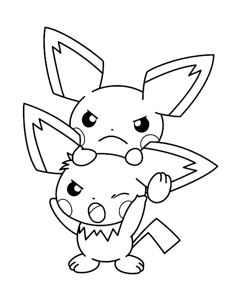Pokemon Coloring Pages Pichu