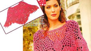 Poncho Crochet con Motivos Pentagonales / Paso a paso en español