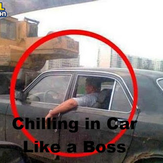 Chilling in Car Like a Boss
