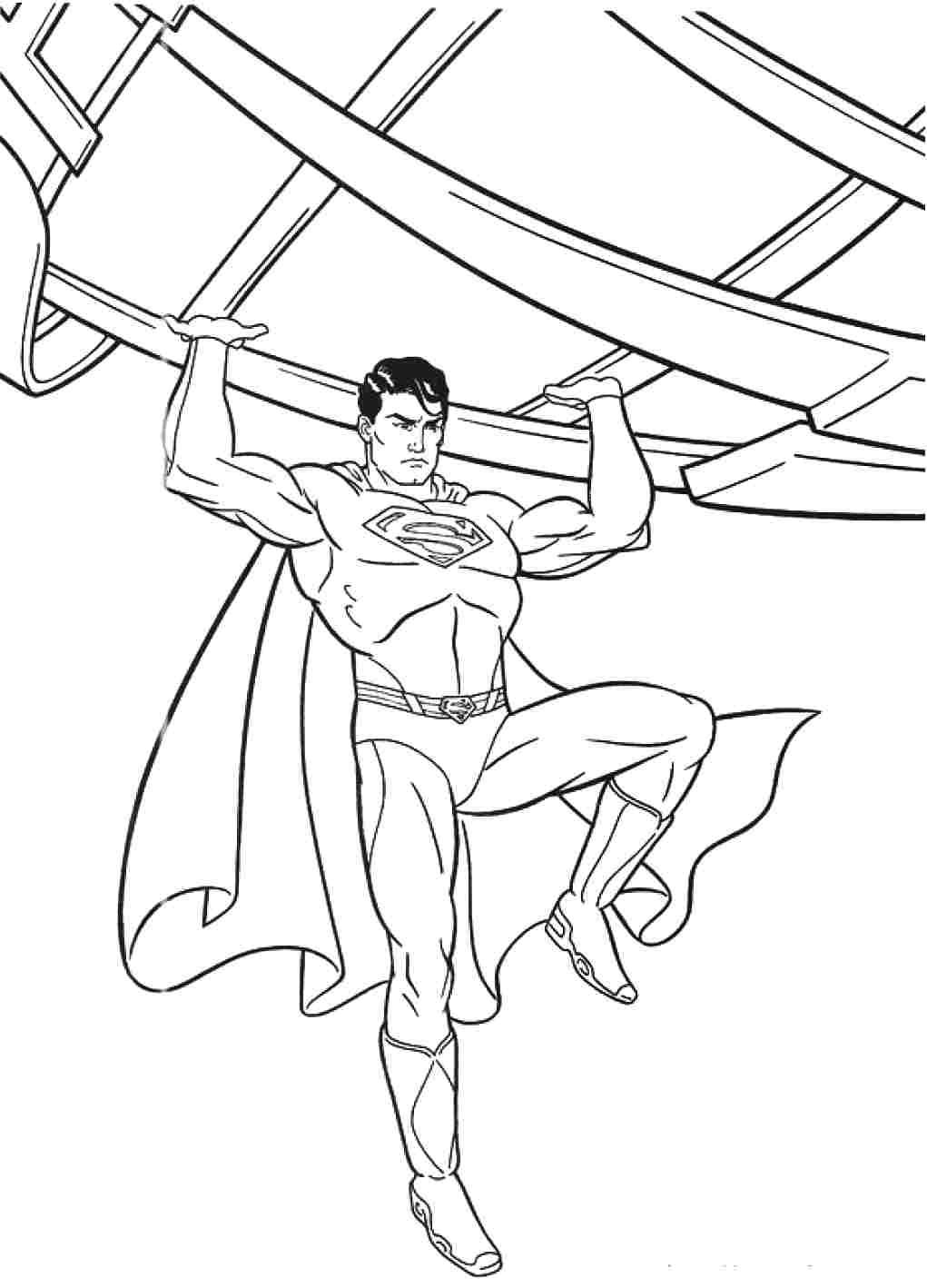 10 Mewarnai Gambar Superman Pemandangan Kartun Masjid Mobil Pahlawan