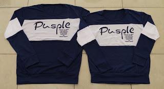 Jual Online Sweater Pusple Neo Navy White Murah di Bogor Bahan Babytery Terbaru