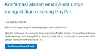 Cara Verifikasi Akun Rekening Paypal Lewat Email
