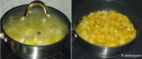 apple pineapple mixture cooked to soft