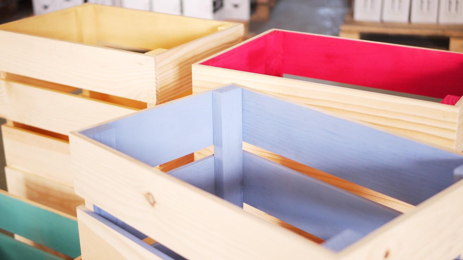 Mesa con cajas de madera leroy merlin - Cajas madera leroy merlin ...