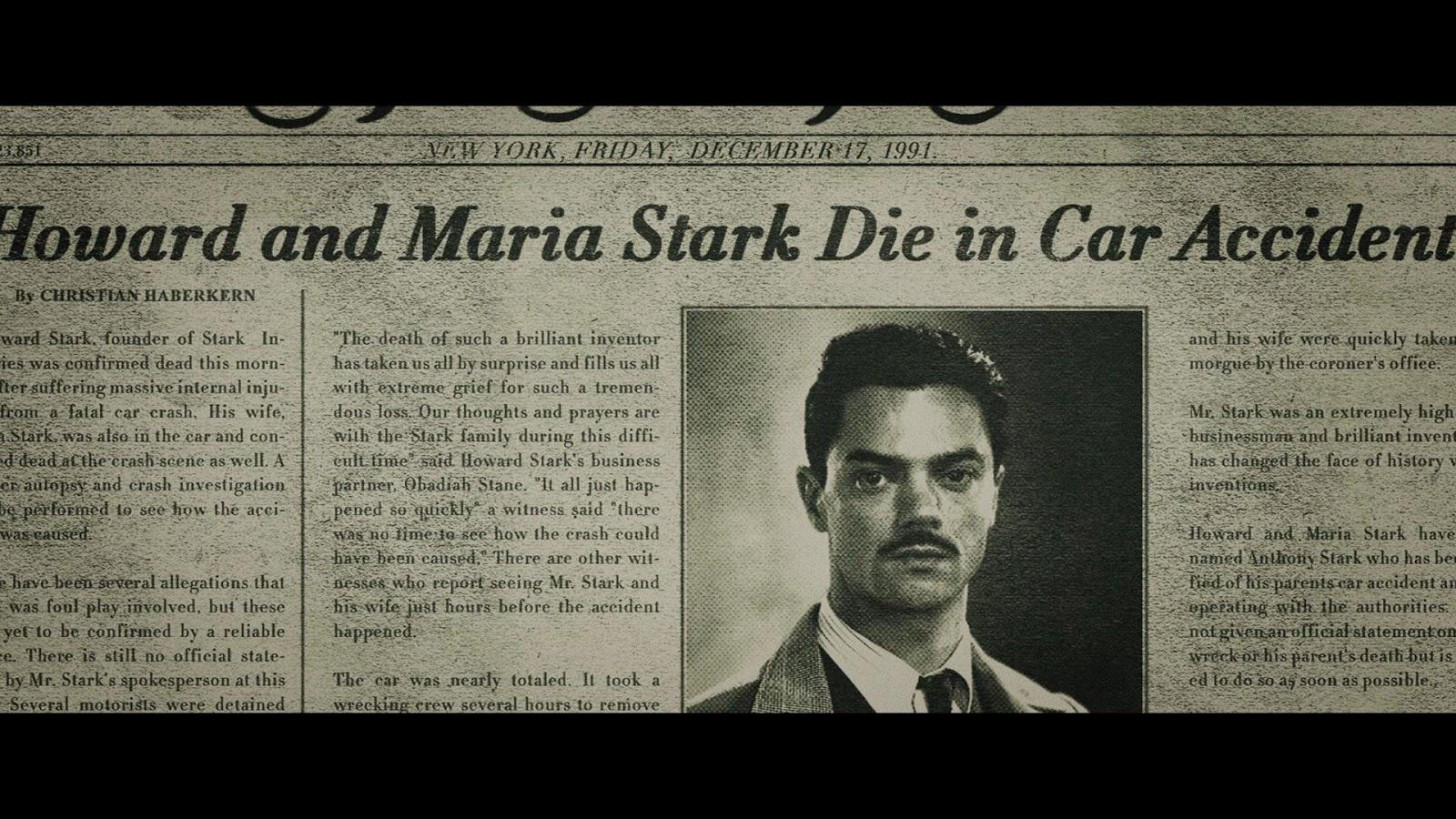 Inconsistencies of when Howard Stark died? : marvelstudios