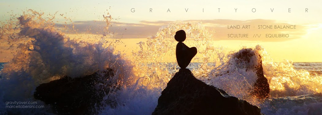 GRAVITYOVER · Land Art · Stone Balance · Sculture //\/ Equilibrio