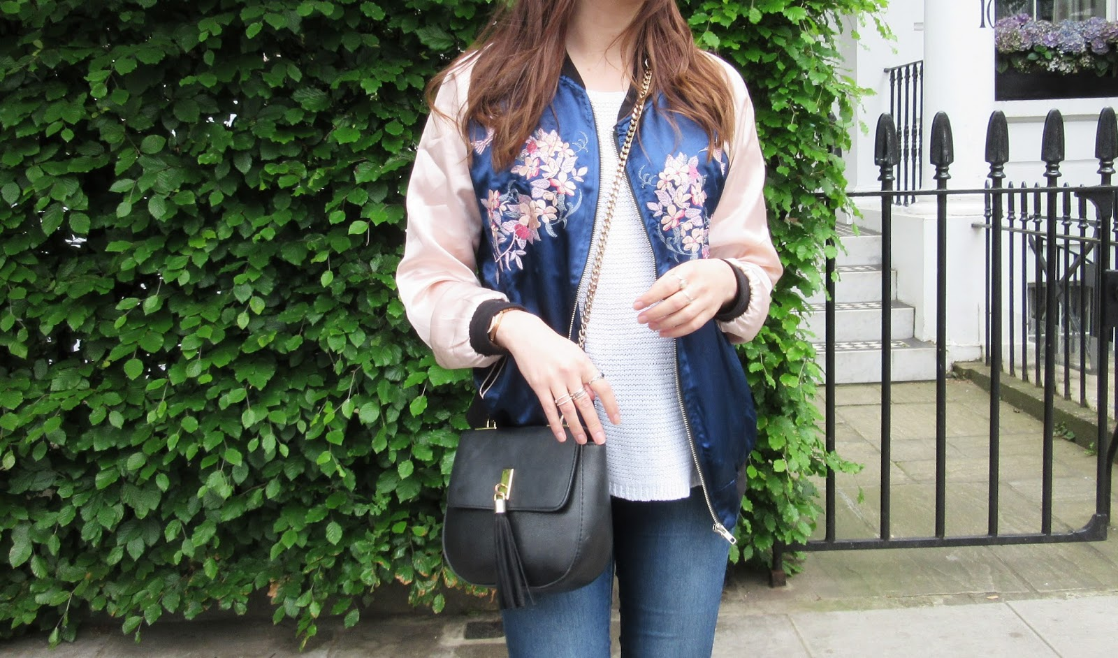 Bank Holiday Strolls // The Statement Silk Bomber // OOTD WIWT // Kensington, West London// Lauren Rose Fashion, Beauty & Lifestyle Blogger // Street Style