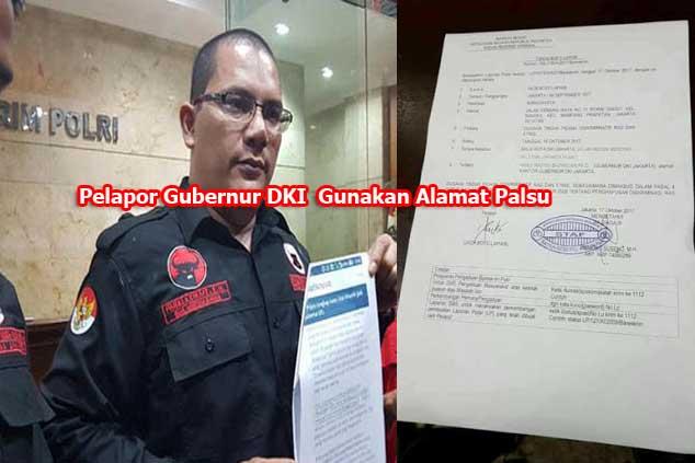 Terungkap, Pelapor Anies Jack B Lapian Gunakan Alamat Palsu