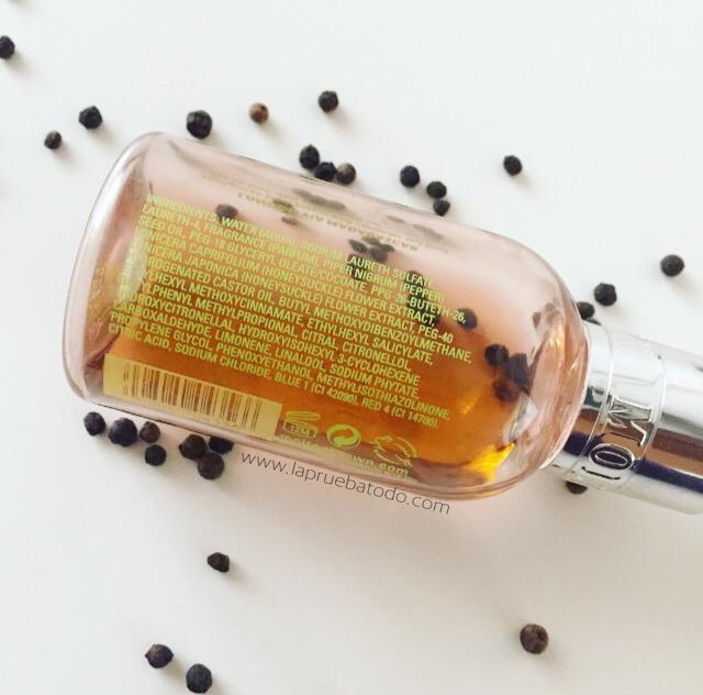 Black Peppercorn body wash de Molton Brown