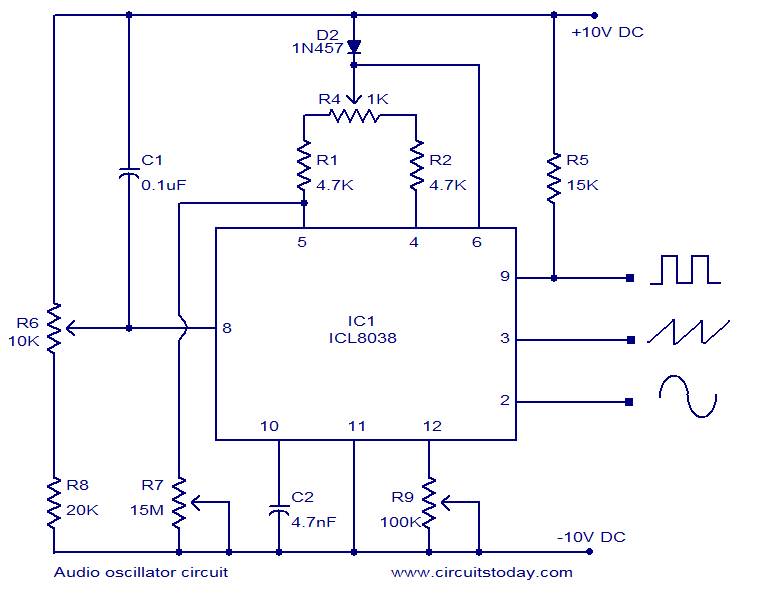 Fantastic Icl8038 Audio Oscillator Circuit Simple Electronic Circuit Diagram Wiring Cloud Tziciuggs Outletorg
