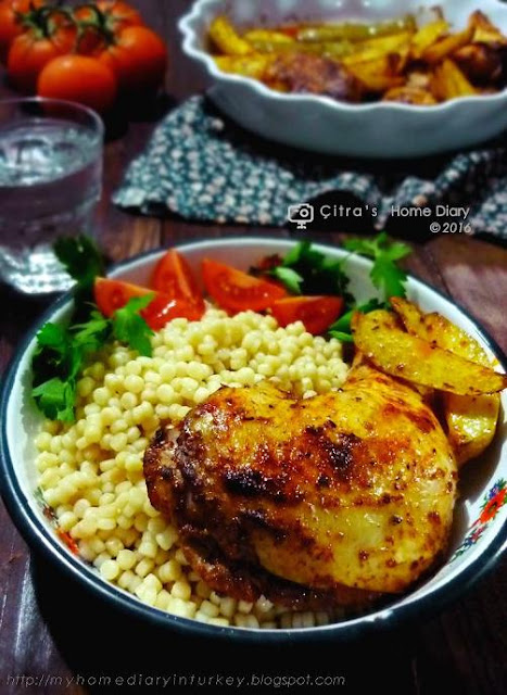 Citra's Home Diary: Smoked Paprika roasted chicken with pearl couscous ...