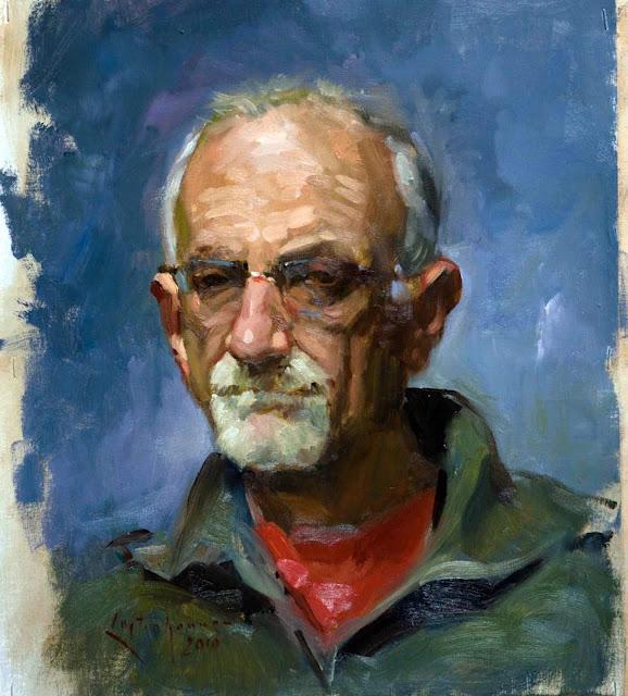 Portrait of men, Ben Lustenhouwer, International Art Gallery, Self Portrait, Art Gallery, Ben Lustenhouwer, Portraits of Painters, Fine arts, Self-Portraits, Painter Ben Lustenhouwer