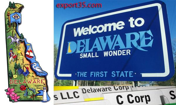 delaware llc, delaware corporation, export35