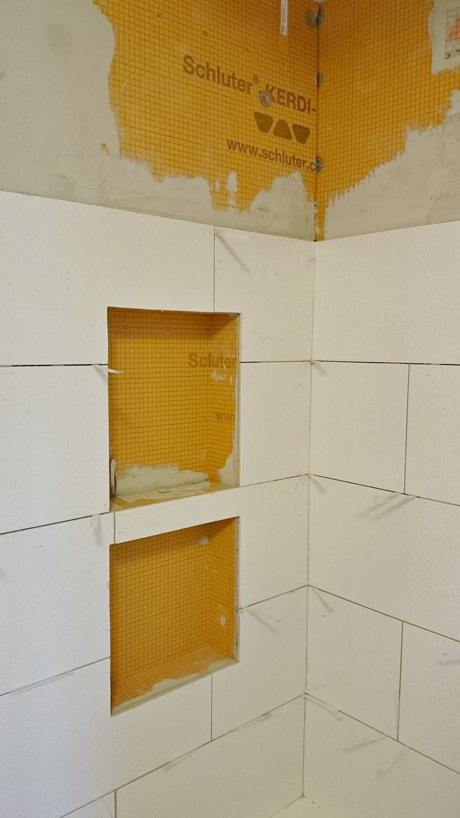 Installing tile with Schluter Kerdi backing