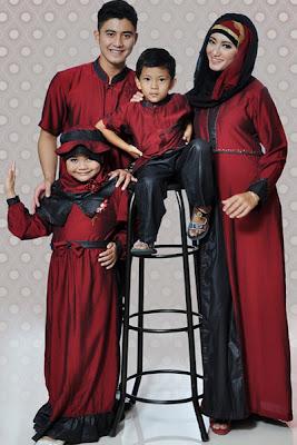 Model Baju Muslim Pasangan Suami Istri dan Anak