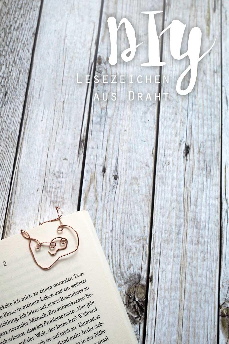 KuneCoco • DIY • Lesezeichen aus Kupferdraht • Schweine-Lesezeichen