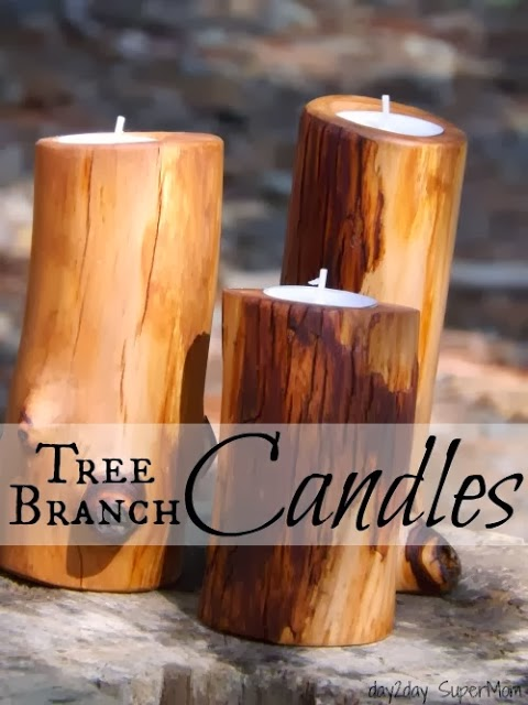 how to make tree branch candles