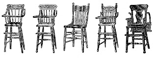 chair furniture highchair illustration images vintage drawings