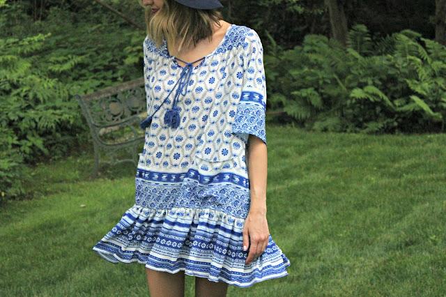 shein tribal print dress
