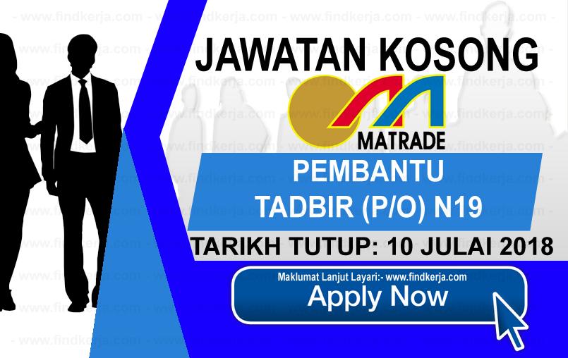 Jawatan Kerja Kosong MATRADE - Perbadanan Pembangunan Perdagangan Luar Malaysia logo www.findkerja.com www.ohjob.info julai 2018