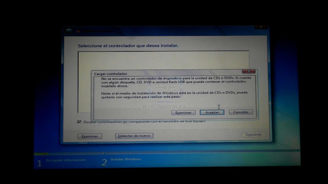 no se detecta disco duro windows canaima