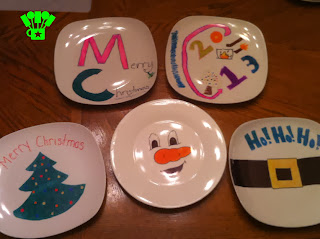 Bake at 350 Christmas Plate DIY