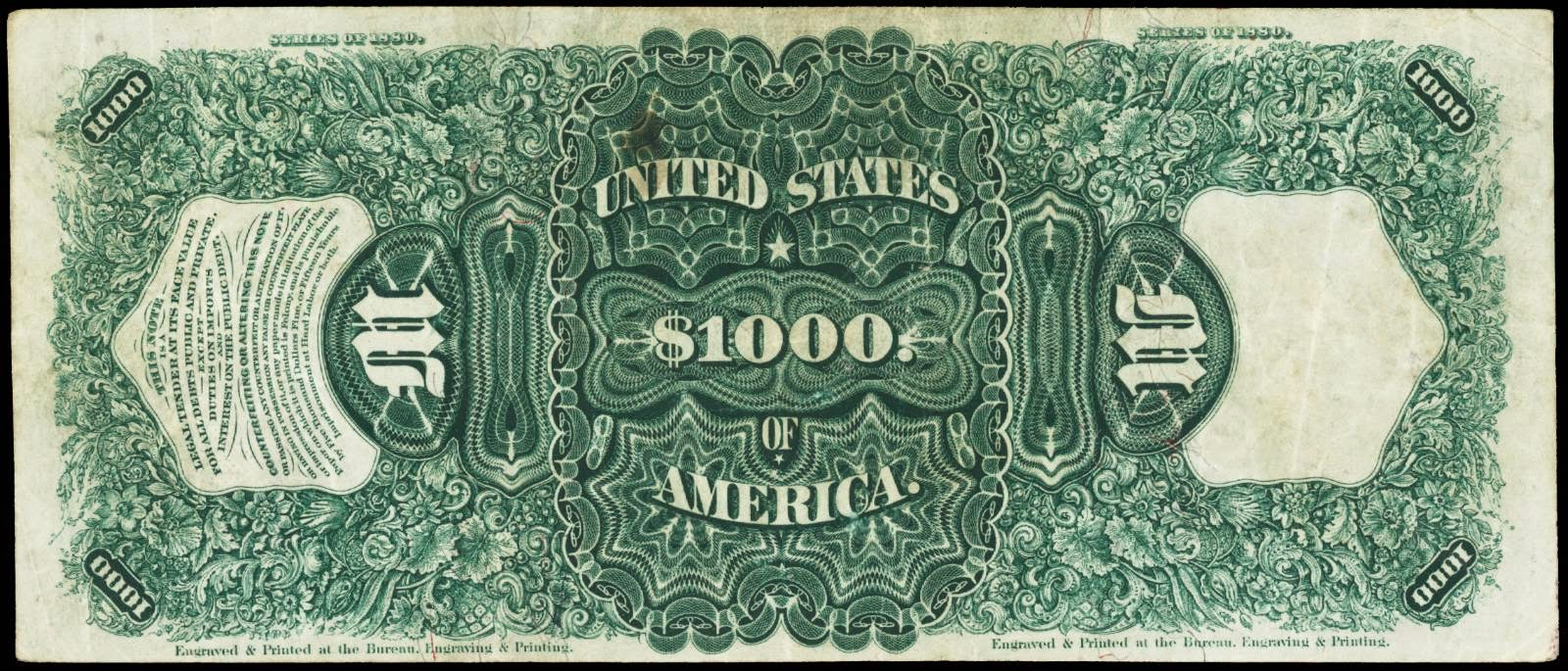 1880 $1000 Dollars United States Note