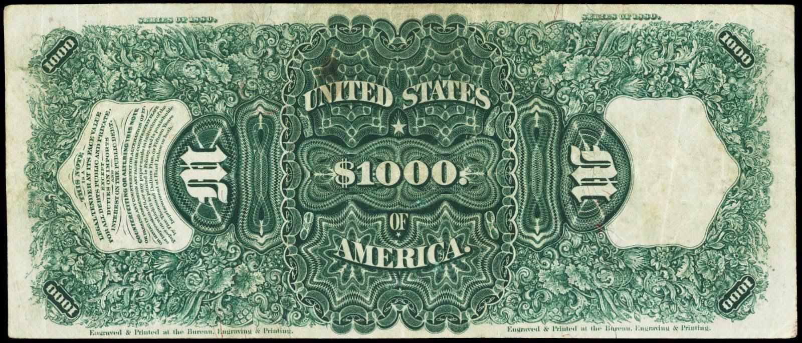 1880 $1000 Dollars United States Note