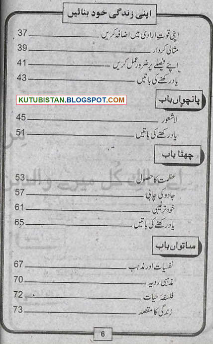 Index of Apni Zindagi Khud Banae