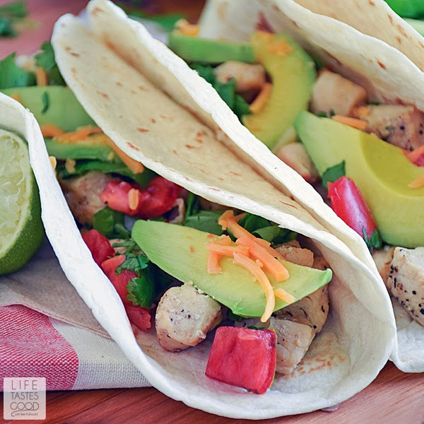 Cinco de Mayo Lime Chicken Soft Tacos with Cilantro Lime Rice | by Life Tastes Good