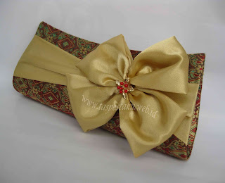 Handmade Tas Pesta Clutch Bag Sari India Mirip Songket