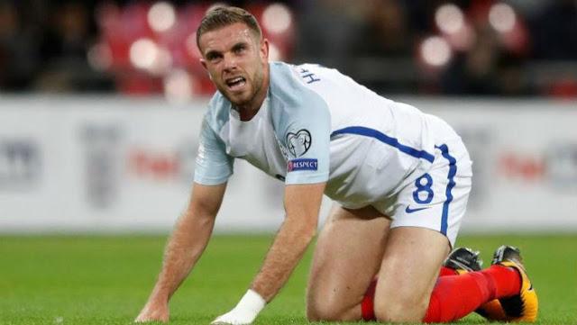 Jordan Henderson diragukan tampil di laga melawan Belgia