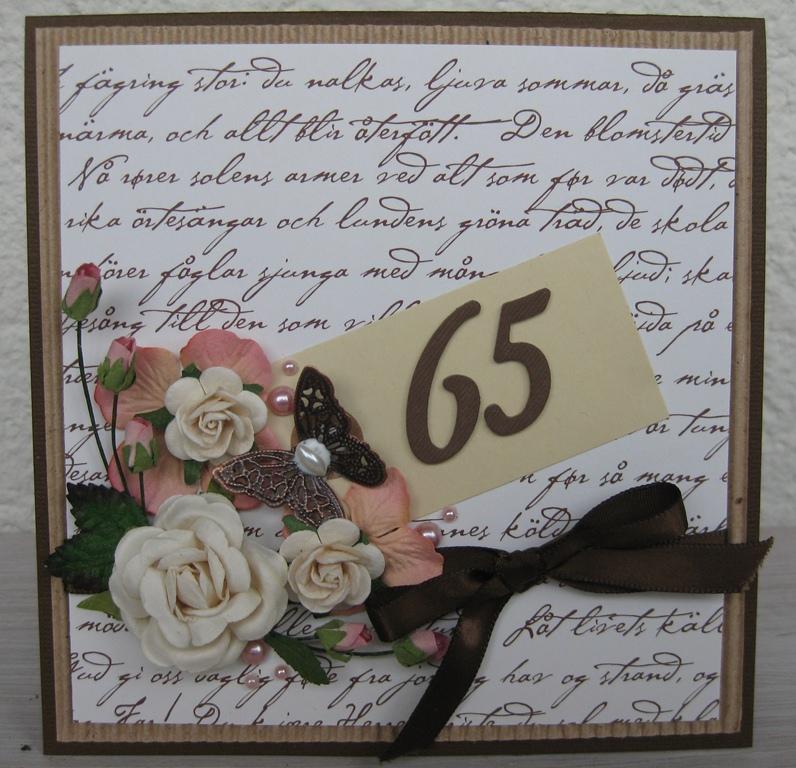 65 års kort Emma pysslar: 65 ÅRSKORT 65 års kort