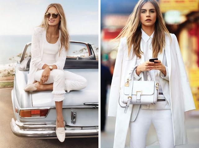 Девушки в белой одежде одного оттенка белого