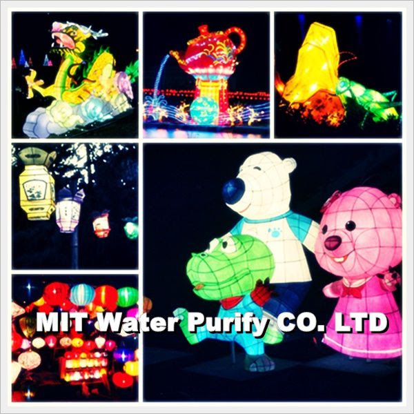 Chinese people will take a lantern when he walking around the night lantern market on The Chinese Lantern Festival Day-2 by MIT Water Purify Professional Team Company