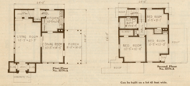 sears cedars original floor plan