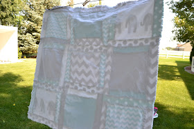 Back of a Rag Quilt in solid flannel