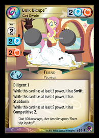 My Little Pony Bulk Biceps, Get Swole Marks in Time CCG Card