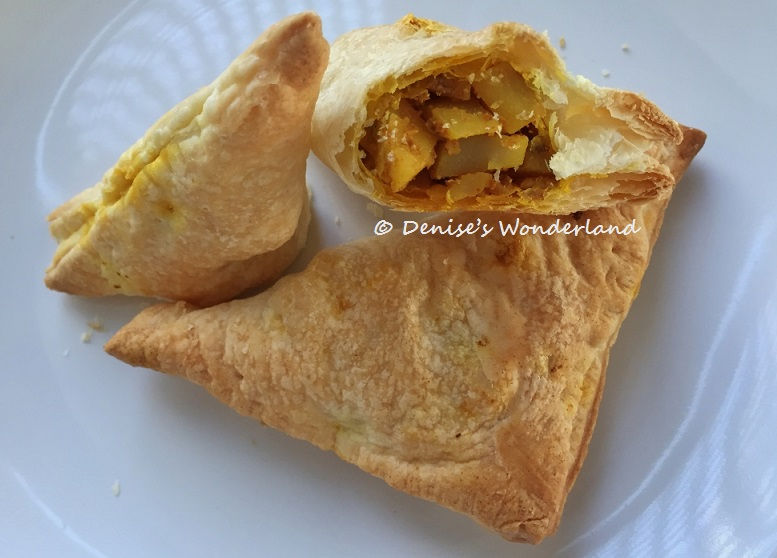 homemade curry puff