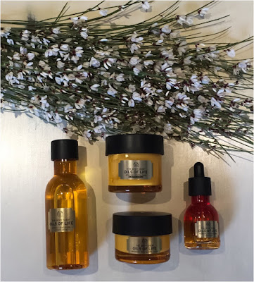 My Midlife Fashion, The Body Shop Oils Of Life, Oils of Life Intensely Revitalising Essence Oil, Oils of Life Intensely Revitalising Facial Oil, Oils of Life Intensely Revitalising Sleeping Cream, Oils of Life Intensely Revitalising Cream