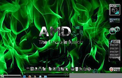 TEMA WINDOWS 7 AMD COOL WITH GADGET