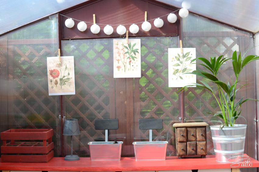 invernadero decoración