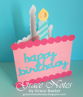B-day cake shape card, by Grace Baxter