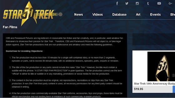 Star Trek Fan Film Guidelines