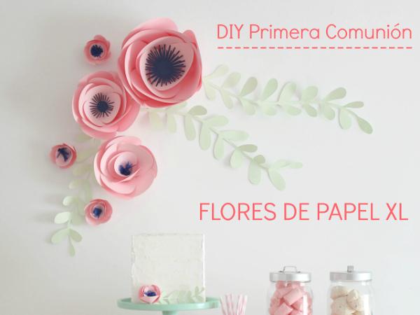 DIY Comunión: Flores de papel XL