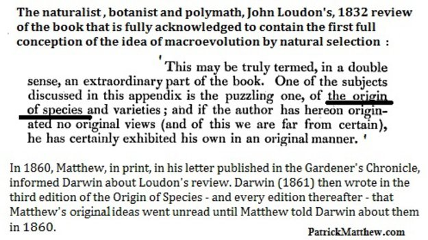 Loudon's 1832 Review of Matthew's book