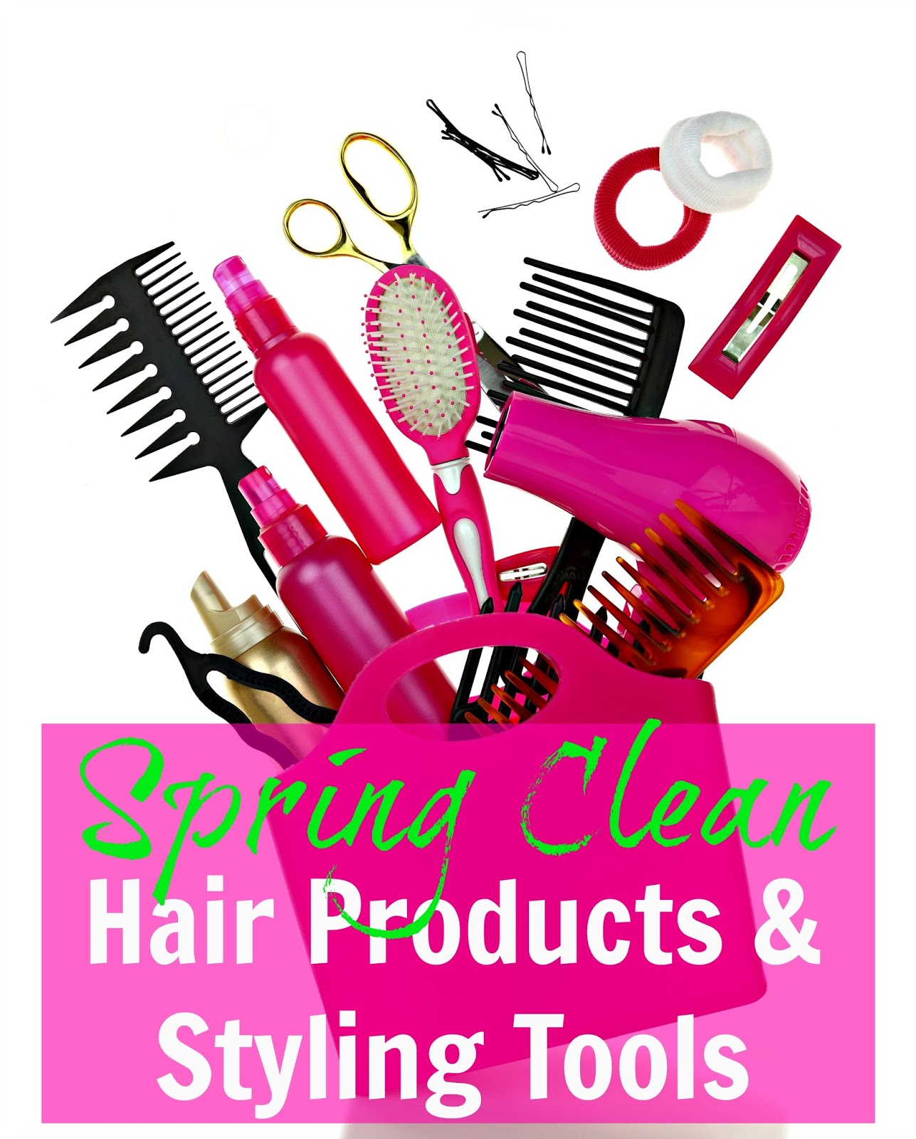 How can you have clean hair if you don't clean your hair products?! Spring is a great time to see what needs to be ditched, revamped or cleaned.