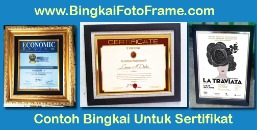 jual bingkai untuk sertifkat